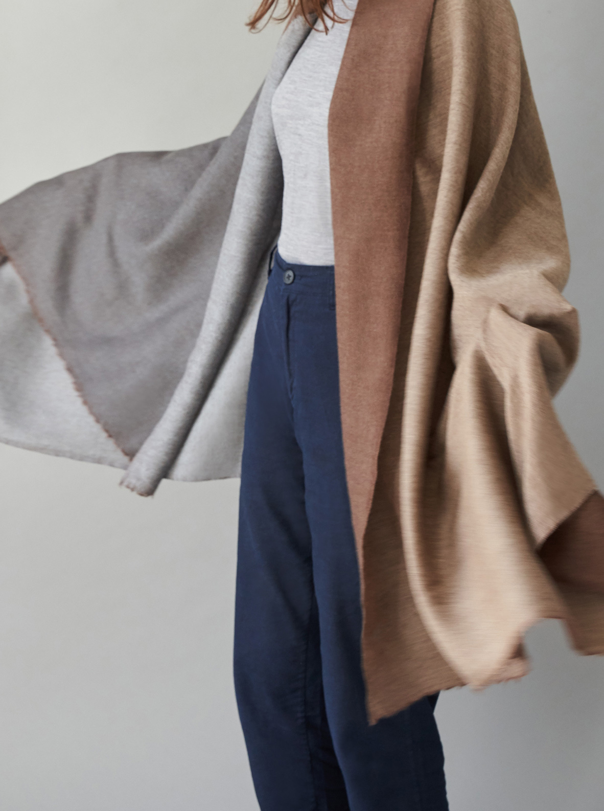 Larusi - Reversible wool shawl/throw